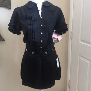 Ramy Brook satin mini skirt